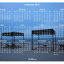 AnYtime Calendar 2011::Binding and Bonding