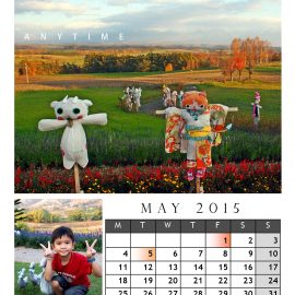 AnYtime Calendar 2015::fall in Love