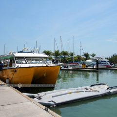 Boarding the Resort's Speed Boat at Royal Phuket Marina